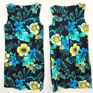 AGB Tropical Floral Sheath Dress Size 12